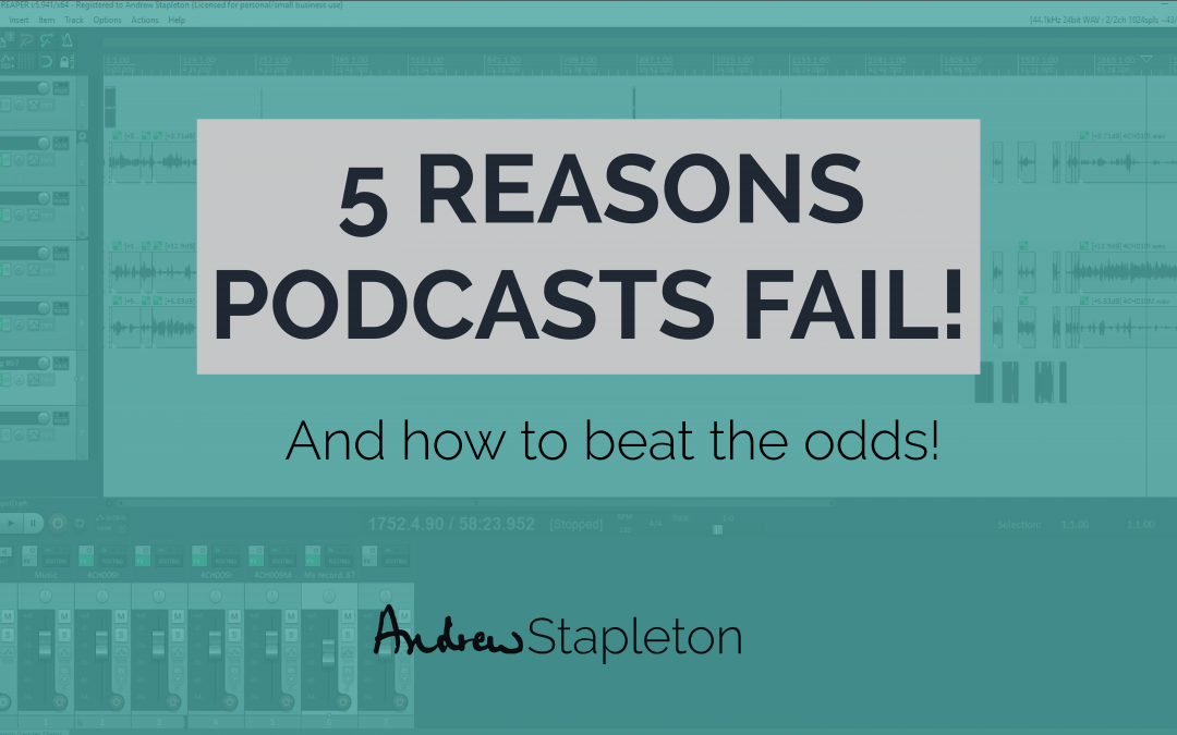 reasons podcasts fail thumbnail